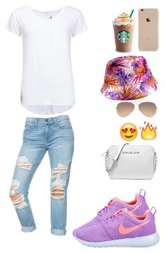 """""""This bucket hat!!"""" by kyah35 ❤ liked on Polyvore featuring Ray-Ban, RADisRAD, NIKE, 2nd Day and Michael Kors"""