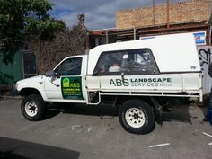 Vehicle Wrapping designed, printed and installed by Sign A Rama Box Hill for ABS Landscape for their Ute.