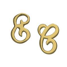Izzy Earrings by Jennifer Zeuner Stud Finder, Symbols, Letters, Charmed, Chain, Earrings, Ear Rings, Stud Earrings, Necklaces