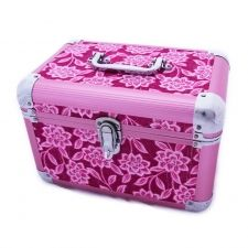 Pink toolbox? Well, sort of. This is for makeup and jewellery.