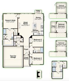 FAIRMONT || Square Feet: 1,347 || Bedrooms: 3 || Full Baths: 2 || Garage: 2-Car