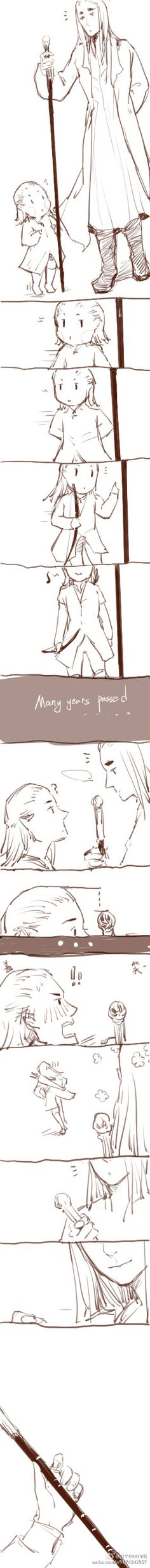 Thranduil and Legolas | Growth in 开个PARTY吧(微博)