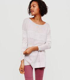 Image of Lou & Grey Shadowstripe Sweater Tunic color Light Oat Heather