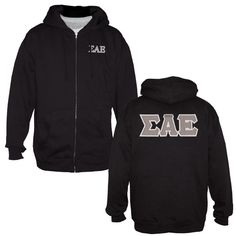You cant beat the versatility of a full zip hoodie. Whats even better is this one shouts Sigma Alpha Epsilon front and back.  Sewn on letters back design and embroidered left chest.  Cotton/poly blend, runs true to size.