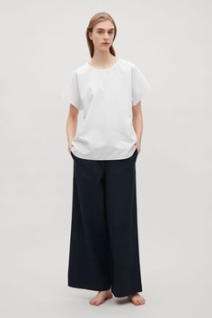 COS image 1 of Relaxed cotton top in White