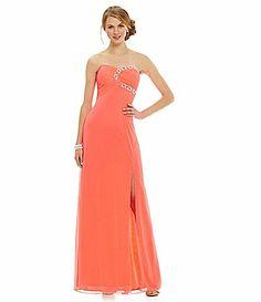 Blondie Nites Strapless Beaded Chain Gown #Dillards