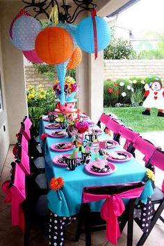 Birght Color birthday Party