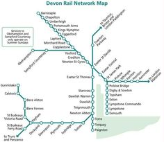 Devon Rail Network Map