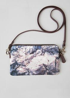 VIDA Leather Statement Clutch - Leaves on Plaster Clutch by VIDA