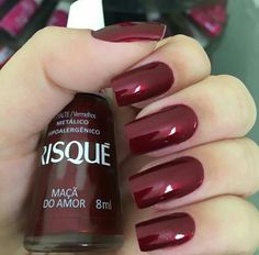 Ideas For Nails Colors Red Colour Sexy Nails, Love Nails, Fun Nails, Stylish Nails, Trendy Nails, Perfect Nails, Gorgeous Nails, Nail Polish Colors, Manicure And Pedicure