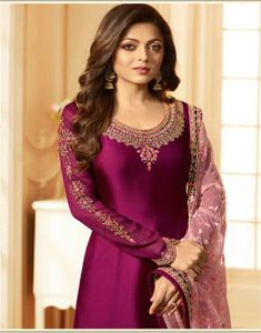 Lt Fabrics Nitya 123 Georgette With Heavy Embroidery Suit 2308 Pakistani Dress Design, Pakistani Dresses, Indian Dresses, Indian Outfits, Indian Designer Outfits, Designer Dresses, Designer Kurtis, Kurti Neck Designs, Blouse Designs