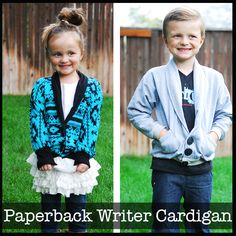 Paperback Writer Cardigan — shut the front door! This is too adorable!