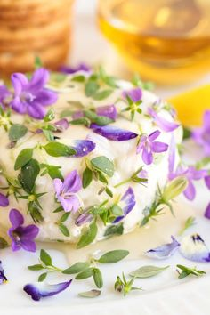 Since edible flowers can be such an easy yet stunning way to add a pop of pizzaz to so many dishes, I thought I'd answer some of the most common questions regarding flowers and food. List Of Edible Flowers, Sweet Violets, Cheese Appetizers, Flower Food, How To Eat Better, Spring Recipes, Clean Eating Snacks, Eating Healthy, Light Recipes