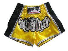 Lumpinee Black Retro Muay Thai Shorts for Kick Boxing Fight LUMRTO-010