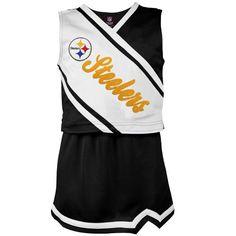 Pittsburgh Steelers Girl's 4-6 Two-Piece Cheerleader Set