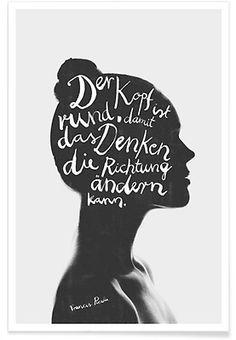 Denken - typealive - Premium Poster