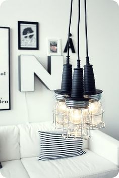 Was looking for something exactly like this...DIY lamp