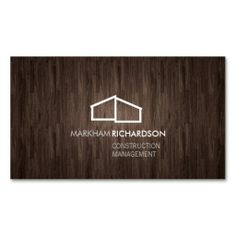 Modern Business Card Template for Real Estate, Realtors, Construction, Property Management, Architects, Interior Design and more - easy to personalize