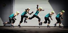 Kamikaze Kitten from London Rollergirls teaching jumps on rollerskates via her blog