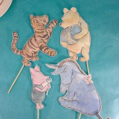 Classic Pooh bear cake toppers, fabric Winnie the Pooh, Piglet, Tigger, Eeyore party decoration Winnie The Pooh Cake, Winnie The Pooh Birthday, Vintage Winnie The Pooh, Bear Birthday, Birthday Cake, Birthday Wishes, Eeyore, Tigger, Baby Shower Parties