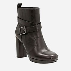 Gabriel Mix Black Leather - Women's Booties & Ankle Boots - Clarks® Shoes Official Site