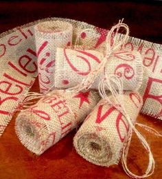primitive merry christmas wired burlap ribbon banner ornament garland barn red pinterest ribbon banner burlap and primitives