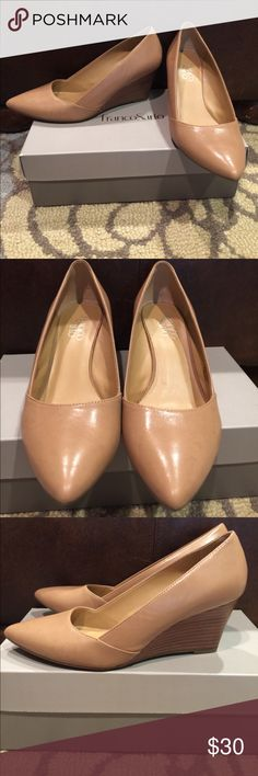 Franco Sarto Tan Wedge 7.5 Great wedge in beautiful tan! Only wore twice...very comfy! Franco Sarto Shoes Wedges