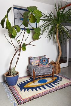 cool fabric and rugs.  If you guys like them, we can use them anywhere