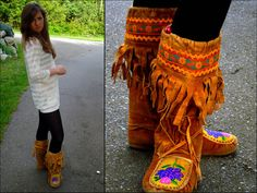 Tamara Y. - Vintage Arctic Mukluks, Sheer Cardigan, Tights - It was like fire around the brim; Tan Ugg Boots, Ugg Boots Sale, Winter Outfits Women, Fall Outfits, Cute Outfits, Ugg Boots Clearance, Santa Boots, Uggs For Cheap, Perfect Fall Outfit