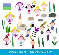 24-YS / Digital Ben & Holly clipart / little от JULLYstudio