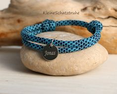 Taufarmband gold Anker Gravur ❤️ blaues Armband Kinderarmband zur Taufe ❤️ Silberschmuck Baby ❤️ Taufgeschenk Lebensbaum Taufbaum HANDMADE IN GERMANY