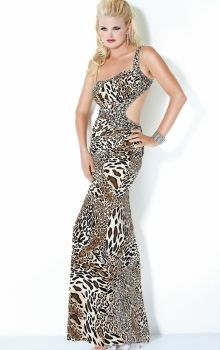 As Picture Sheath Column One Shoulder Natural Long Floor-length Sleeveless  Pattern Prom. Animal Print Prom DressesSerendipity ... 154481f72