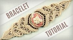 Macrame Stone Bracelet Tutorial in Vintage Style | Boho DIY