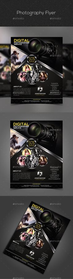 Photography Flyer — Photoshop PSD #magazine #dark • Available here → https://graphicriver.net/item/photography-flyer-/10936681?ref=pxcr