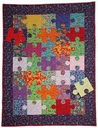 free Puzzle quilt template & how to guide