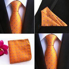 Silk Tie Set Pocket Square Neck Tie Hanky