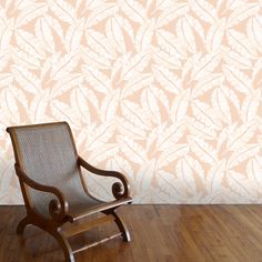 This design was inspired by a tour of the historic Bonnet House in Ft. Lauderdale, Florida #wallpaper #wallart #tropical #banana #design