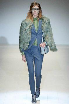 Gucci AW2014 at Milan Fashion Week via heelsandbells.com