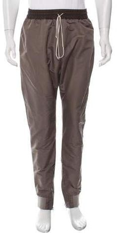 NWT Mens $80 Onzie Yoga Classic Jogger Sweat Pants in Khaki Herringbone M L