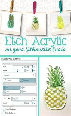 Tutorial: Etch Acrylic with your Silhouette Curio - by cuttingforbusiness.com