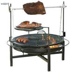 Wood & Charcoal Round Rock Grill / Rotisserie / Fire Pit Landmann 590503