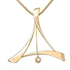 14k Gold Tango Pendant With Diamond