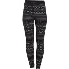 PIECES Aztec Pattern Leggings ($41) ❤ liked on Polyvore featuring pants, leggings, bottoms, jeans, calças, whitecap gray, aztec patterned leggings, aztec leggings, aztec print pants and grey pants