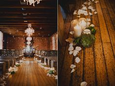indoor evening ceremony - photo by Sloan Photographers - http://ruffledblog.com/glam-carondelet-house-wedding/