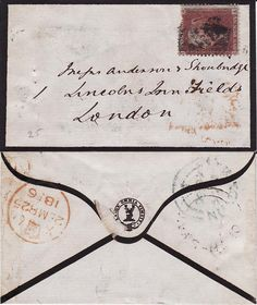 Mourning letter. I believe the postmark says 1856.