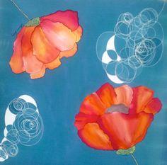 Seda natural crepe de chine, pintada a mano para un cuadro regalo de boda. Medidas 90 cm x 90 cm aproximadamente. #silk #soie #soie #amapolas #cuadro #picture Silk Painting, Hand Painted, Natural, Flowers, Fun, Gifts, Painted Silk, Silk Scarves, Wedding Gifts
