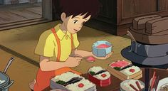 Bento boxes from My Neighbor Totoro.   Here's How To Eat Everything You've Ever Wanted From A Miyazaki Film