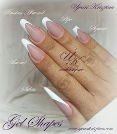 I like Russian almond and the Pipe French Acrylic Nails, French Nails, Nail Ballerina, Nail Atelier, Luminous Nails, Nails & Co, Sculptured Nails, Nail Techniques, Edge Nails