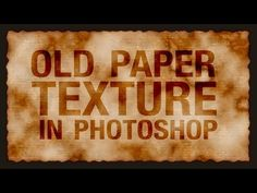 Stained, Old Paper Texture in Photoshop | IceflowStudios