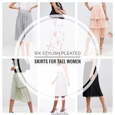 Tall girl, you need a pleated skirt!  Here's 6 cute ones to choose from #ssCollective #ShopStyle